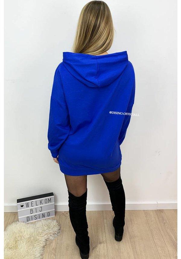 ROYAL BLUE - 'NIKKIE' - HOODIE DRESS