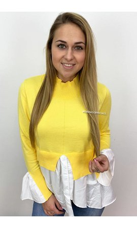 YELLOW - 'AMALIA' - BLOUSE SWEATER