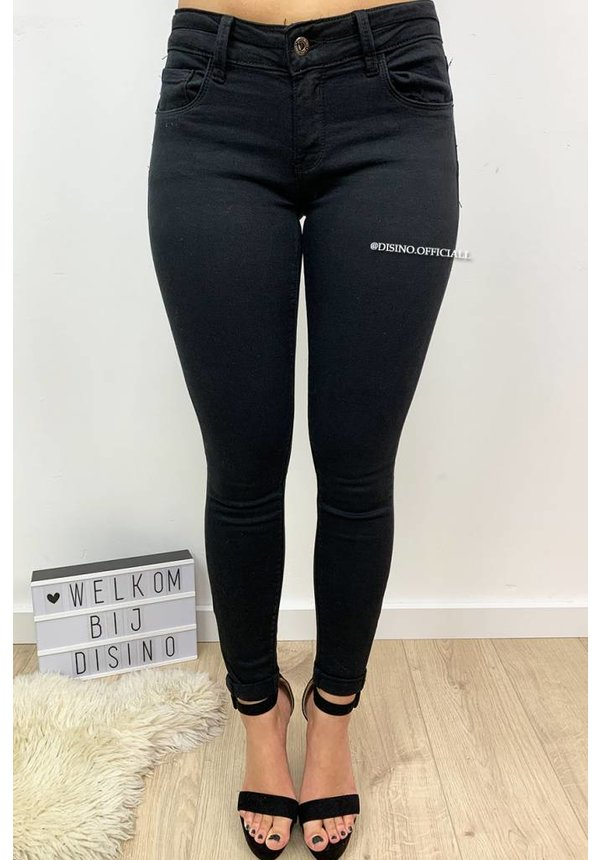 QUEEN HEARTS JEANS - BLACK - PERFECT SKINNY PUSH UP - 9045