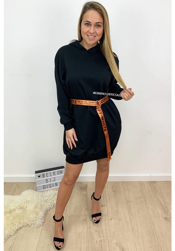 BLACK - 'SASKIA' - OVERSIZED SWEATER DRESS