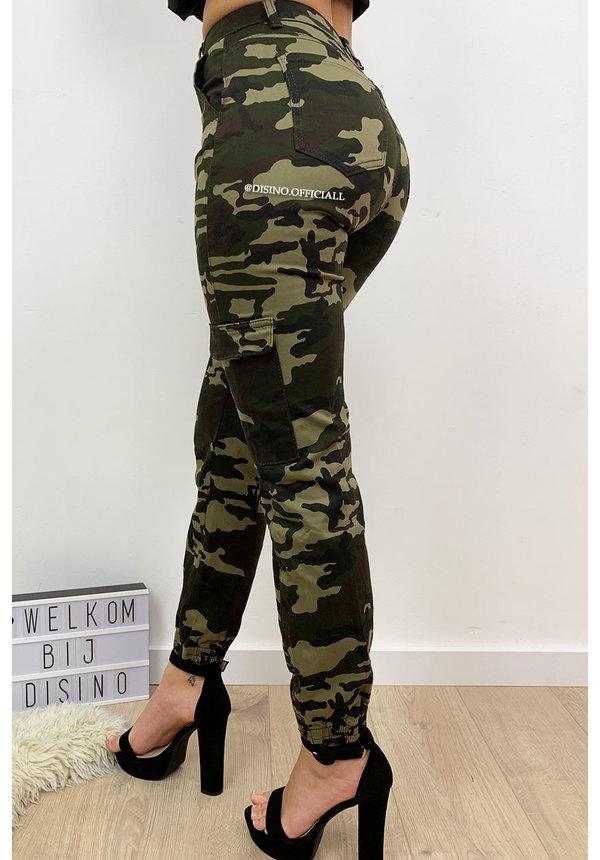 ARMY - 'BROOKE' - CAMO CARGO PANTS
