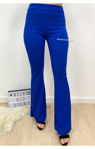 ROYAL BLUE - 'FIONA' - HIGH WAIST SUPER SLIM FLARED PANTS