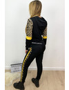 YELLOW - 'AMBER' - LEOPARD STRIPED TRACK SUIT