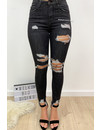 QUEEN HEARTS JEANS - DARK GREY - MAX RIPPED SKINNY HIGH WAIST - 597