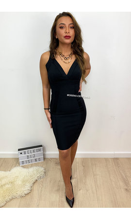 BLACK - 'LYDIA' - BANDAGE DRESS