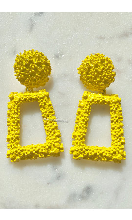 YELLOW - QUEEN EARRINGS