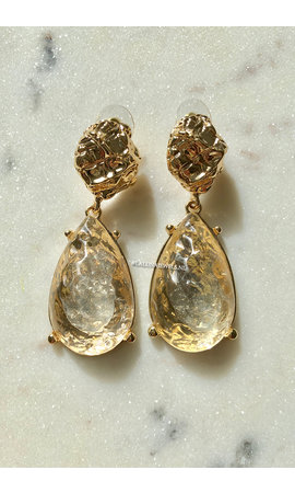 GOLD - CRYSTAL EARRINGS