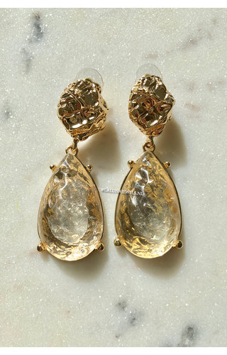 GOLD - CRYSTAL EARRINGS