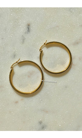 GOLD - CIRCLE PEARL EARRINGS