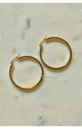 GOLD - CIRCLE PEARL EARRINGS