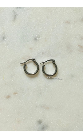 SILVER - SMALL CIRCLE EARRINGS