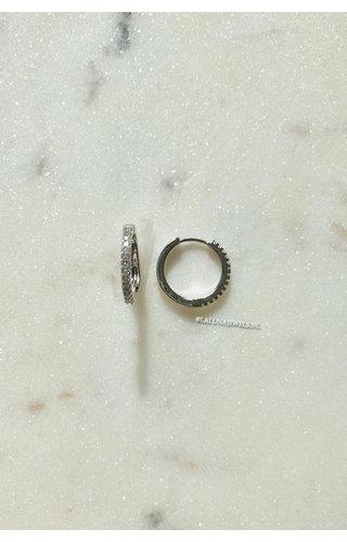 SILVER - DIAMOND RING EARRINGS