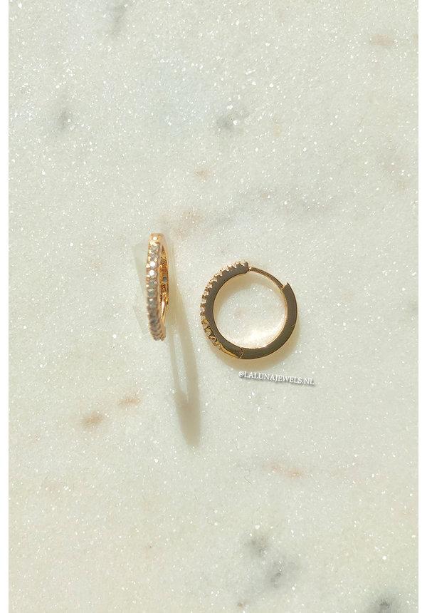 GOLD - DIAMOND RING EARRINGS