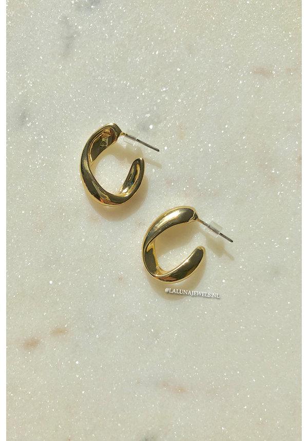 GOLD - LITTLE OVAL EARRINGS