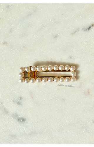 PEARLS RECTANGLE SMALL CLIP