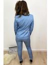 BLUE - 'DIANA' - PREMIUM QUALITY GOLD BUTTON BLAZER