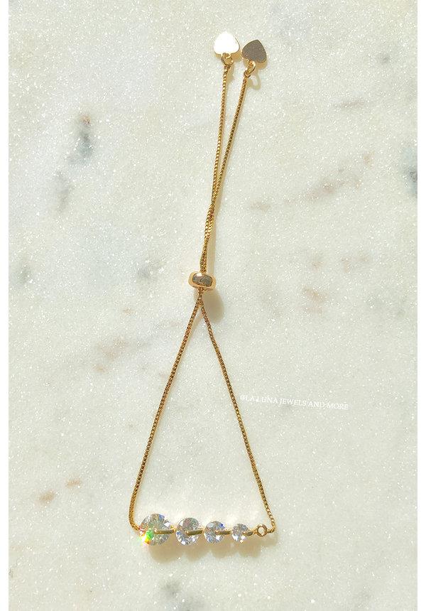 GOLD - FOUR DIAMONDS BRACELET