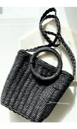 BLACK - RATAN BAG