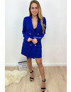 ROYAL BLUE - 'ALICE' - DOUBLE BREASTED GOLD BUTTON JACKET DRESS