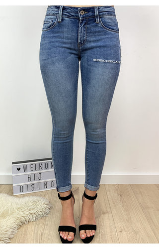 QUEEN HEARTS JEANS - LIGHT BLUE - PERFECT SKINNY PUSH UP - 9045