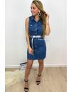 BLUE - 'IMANI' - STRETCHY DENIM DRESS