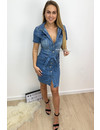 LIGHT BLUE - 'FRANCOISE' - REAL DENIM BUTTON UP DRESS