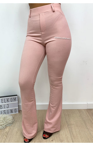 SOFT PINK - 'MILENA' - SUPER HIGH WAIST FLARED PANTS