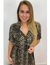 BEIGE - 'MARA' - LEOPARD PRINT BLOUSE MAXI DRESS