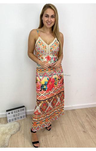 ORANGE - 'ZARINA' - COLORFULL AFRICAN BEAUTY IBIZA MAXI DRESS