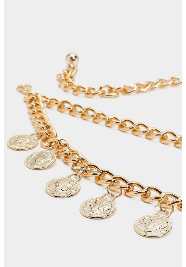 GOLD - 'GOLDEN COINS' - CHAIN WAIST BELT