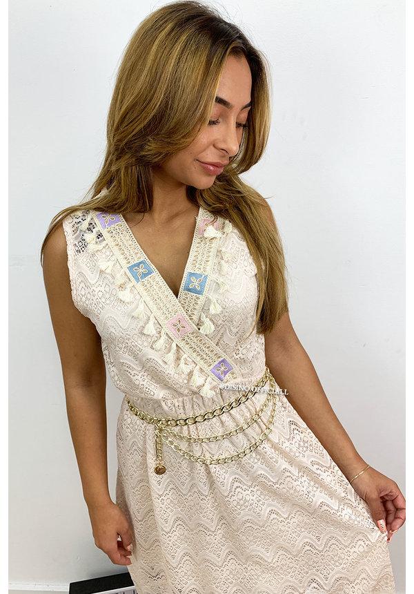 NUDE - 'ISLA BONITA' - IBIZA LACE DRESS