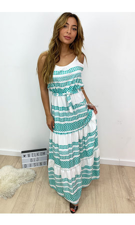 TURQUOISE - 'DONNA LONGA' - PREMIUM QUALITY INSPIRED MAXI DRESS