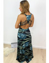 MIDNIGHT BLUE - 'SUNSHINE' - SUPER COMFY OPEN BACK SUMMER MAXI DRESS