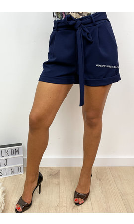 NAVY BLUE - 'LILAH' - COMFY KNOT SHORT