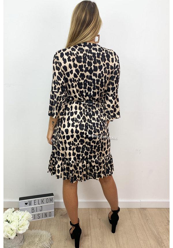 LEOPARD - 'CHELSEA' - LEOPARD PRINT WRAP ON DRESS