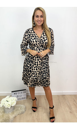 LEOPARD - 'CHELSEA' - LEOPARD PRINT WRAP ON DRESS