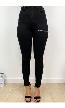 QUEEN HEARTS JEANS - BLACK - PERFECT SUPER HIGH WAIST - 9171