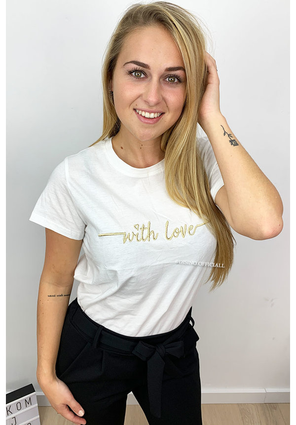 GOLD - 'WITH LOVE' - BASIC TEE