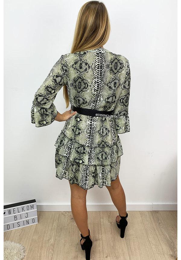 KHAKI GREEN - 'DONNA VIVA' - INSPIRED DRESS