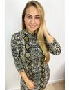 BEIGE - 'RACHEL' - SOFT TOUCH SNAKE PRINT DRESS