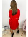 RED - 'JACKY' - OVERSIZED COMFY SWEATER DRESS