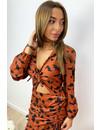 CAMEL - 'CHLOÉ' - INSPIRED V-NECK DRESS