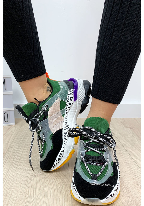 GREEN - 'EYE CANDY' - INSPIRED TRIPLE SNEAKERS