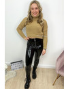 CAMEL - 'KATE' - CROPPED SWEATER COL