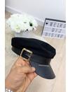 BLACK - 'CAPTAIN JACK' - FAUX LEATHER CAPTAIN CAP