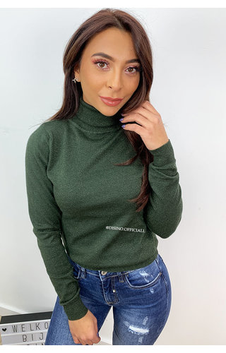 GLITTERLY GREEN - 'SOOF' - SOFT TOUCH COL TOP