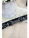 BLACK - 'DOUBLE SNAKE BUCKLE' - INSPIRED ELASTIC COWBOY BELT