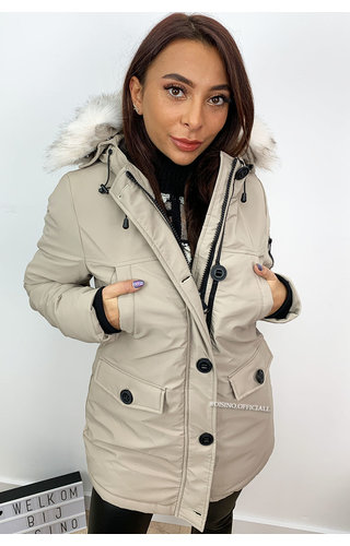 BEIGE - 'FRENCH GOOSE' - WINTER PARKA