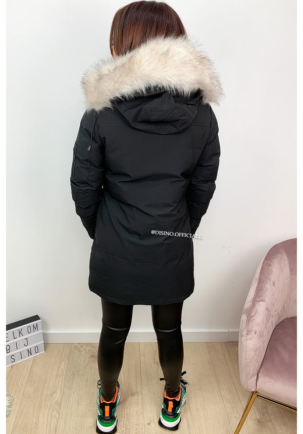 BLACK - 'FRENCH GOOSE' - WINTER PARKA