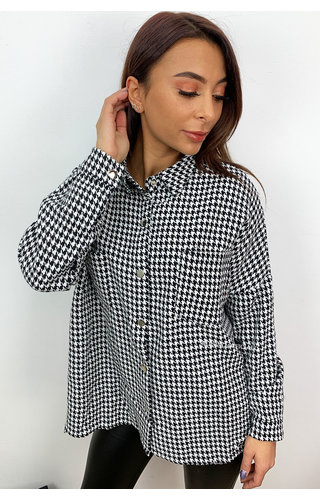 WHITE - 'CECILE' - INSPIRED OVERSIZED TWEED BLOUSE